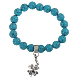 Maddy Emerson Sterling Silver Turquoise Charm Bracelet