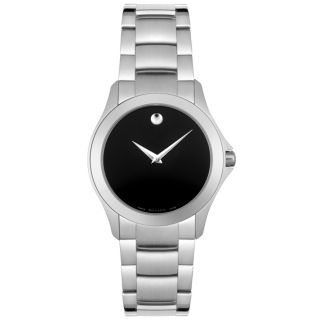 Movado Womens Stainless Steel Military Watch