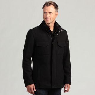 Izod Mens Wool Zip front Coat