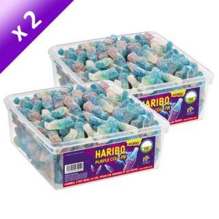 Lot de 2   HARIBO Purple Cola Pik   2 Boîte de 210 pièces soit 2.5kg