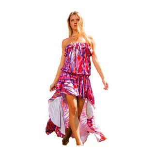 Rachel Lym Lola Strapless Cascade Maxi Swim Cover