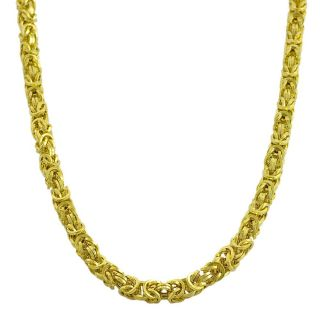 14k Yellow Gold Polished Fancy Byzantine Link Necklace