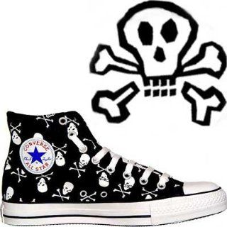 Converse All Star Totenkopf Chucks HI Black / White Skull 1Q458