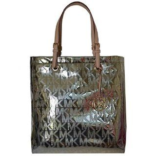 Handbag Items Grab Bag Signature Logo Mirror Metallic Rose Gold Shoes
