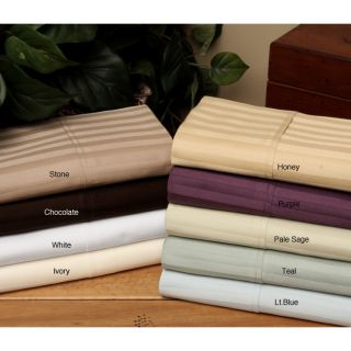 Majestic 400 Thread Count Woven Stripe 6 piece Cotton Sheet Set