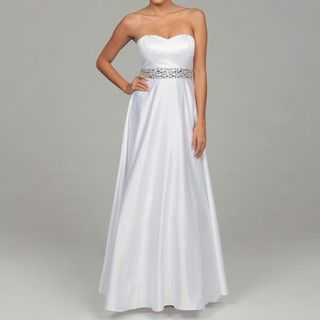 Hailey by Adrianna Papell Womens Satin Bead Gown
