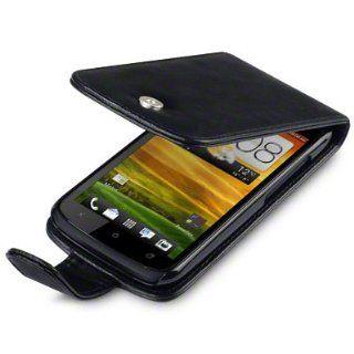 HTC ONE S HANDY LEDER TASCHE CASE HÜLLE IN SCHWARZ, QUBITS RETAIL