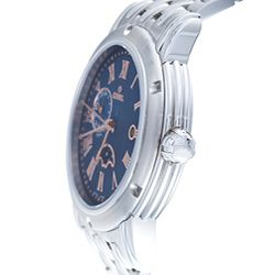 Gevril Mens Prime Minister Dual Time Zone Blue Dial Watch