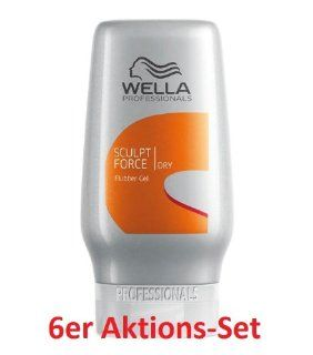 6x Wella High Hair Sculpt Force Flubber 125 ml: Drogerie