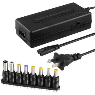 Universal Notebook Travel Charger with 8 piece Connector Set