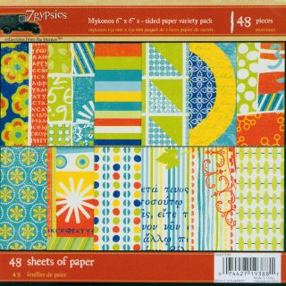 Mykonos Double sided 6x6 inch Paper Pack (Case of 48)