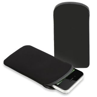 Black Soft Pouch Case for Apple iPhone/ iPod Touch