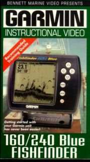 Garmin instructional Video   160/240 Blue Fishfinder (VHS)