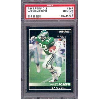 1992 Pinnacle #247 James Joseph Eagles PSA 10 pop 1