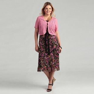 Studio 1 Womens Plus Size Carnation/ Black Dress FINAL SALE