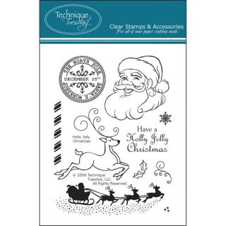 Technique Tuesday Holly Jolly Christmas Clear Stamp