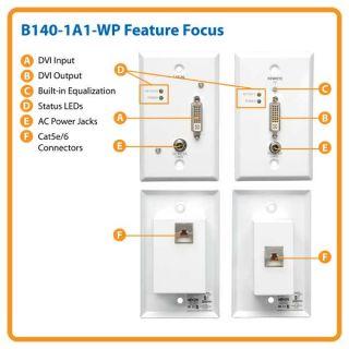 TRIPP LITE TAA GSA B140 1A1 WP DVI Over Cat5 Active Extender Wallplate
