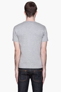 Comme Des Garçons Play  Heather Grey Gold Foil T shirt for men