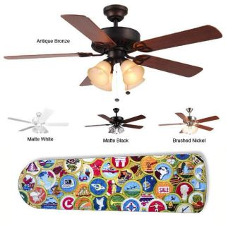 New Image Concepts 4 light Boy Scout Blade Ceiling Fan