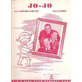 Sheet Music 1940 Jo Jo The Jesters 248: Everything Else