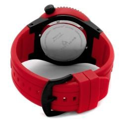 Swiss Legend Mens Neptune Red Silicone Watch