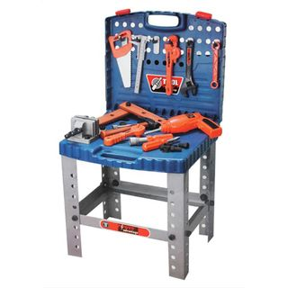 Power Advantage 60 Piece Portable Workbench Set with Working Drill