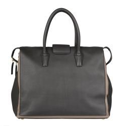 Yves Saint Laurent Grey/ Tan Muse Two Cabas Tote