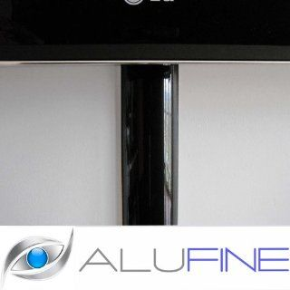 130 cm Design Alu Kabelkanal Piano Black für Plasma