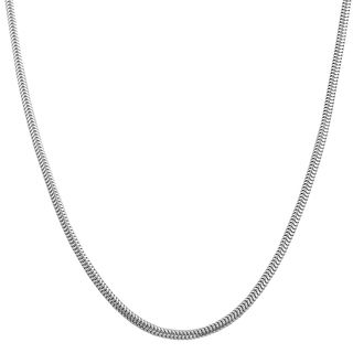 Highly Polished Sterling Silver Round Snake Chain Necklace (16 20