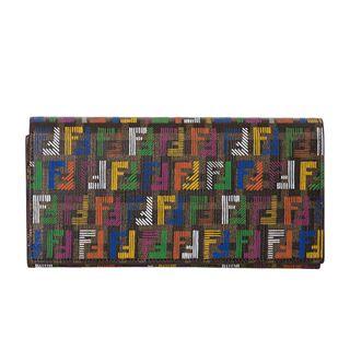 Fendi Forever Techno Multicolored Zucchino Wallet