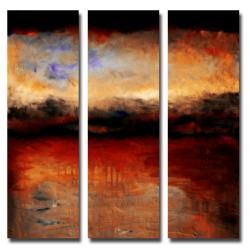Michelle Calkins Red Skies at Night Canvas Art Set