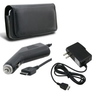Leather Case/ Car and Travel Charger for Samsung Omnia i910