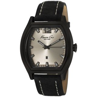 Kenneth Cole Mens Black Genuine Leather Watch