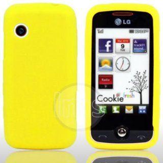 AIO Gelb Silikon Hülle Case Cover Tasche für LG Cookie
