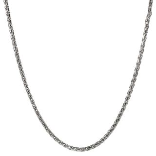 Journee Collection Stainless Steel Foxtail Chain Necklace