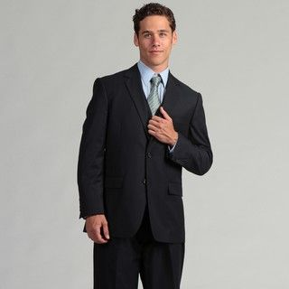 Adolfo Mens Navy 3 piece Vested Suit