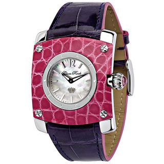 Glam Rock Womens St. Barth Purple Leather Watch
