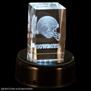 Dallas Cowboys Crystal Helmet Cube with Base