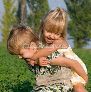 Little girl and boy  Stock Photo © Denys Prokofyev #1423474