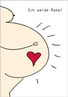 Stolze Schwangerschafts Bekanntmachungskarte Ich werde Mama