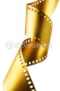 Gold film strip  Foto de Stock © Roman Sigaev #1427755