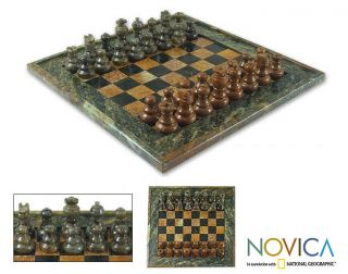 Soapstone The Game of Chess Set (Brazil)