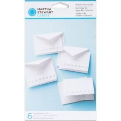 Martha Stewart Doily Lace Thank You Cards (Pack of 6)