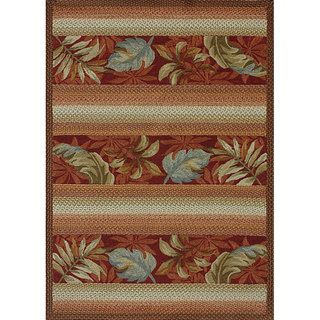 Hand hooked Country Red Rug (5 x 76)