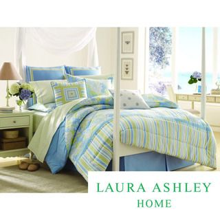 Laura Ashley Somerset 100 percent Cotton 4 piece Comforter Set