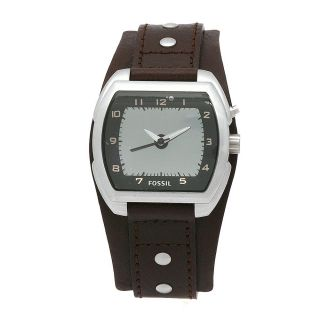 Fossil Womens Kaleido Brown Leather Strap Watch
