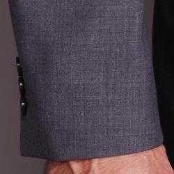 Mantoni Mens Charcoal Gray Wool Slim fit 2 button Suit