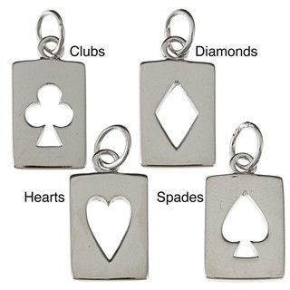 La Preciosa Sterling Silver Cut out Playing Card Charm