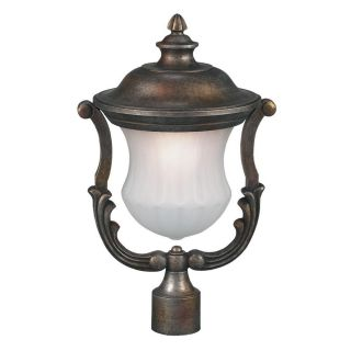 Cambridge Outdoor Frosted Glass Bronze Post Head