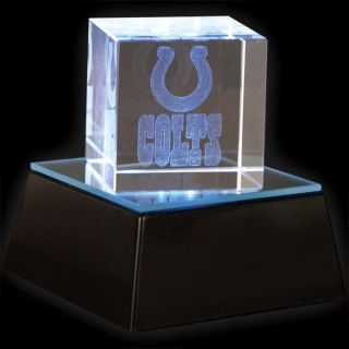 Indianapolis Colts Square Crystal Helmet Cube with Base